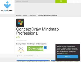 conceptdraw-mindmap-professional.en.uptodown.com screenshot