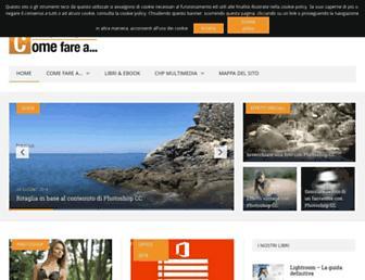Main page screenshot of comefarea.it
