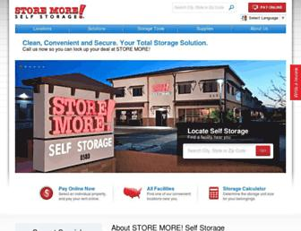 storemoreselfstorage.com screenshot