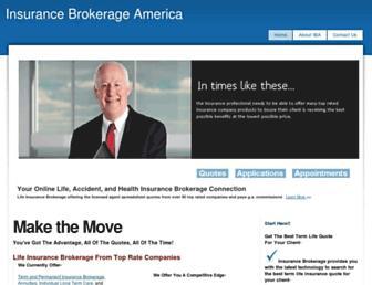 insurancebrokerageamerica.com screenshot
