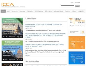 arbitration-icca.org screenshot
