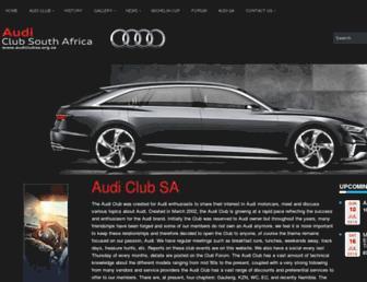 Screenshot for audiclubsa.org.za
