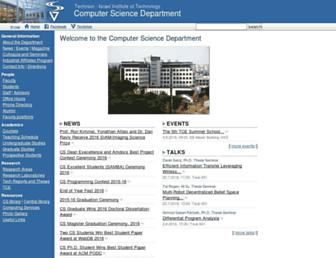 cs.technion.ac.il screenshot