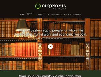 Main page screenshot of oikonomianetwork.org