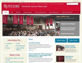 uhr.rutgers.edu screenshot