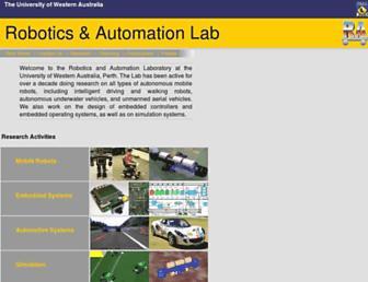 robotics.ee.uwa.edu.au screenshot