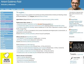 Main page screenshot of gutierrez-rubi.es