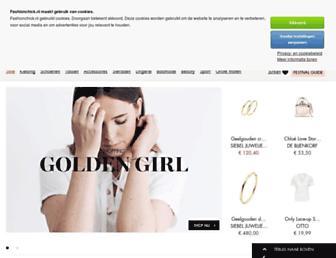 Main page screenshot of fashionchick.nl
