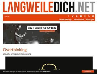 Main page screenshot of langweiledich.net