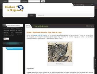 dichosyrefranes.net screenshot