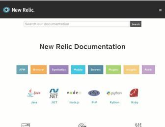 docs.newrelic.com screenshot