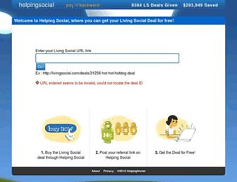 helpingsocial.com screenshot