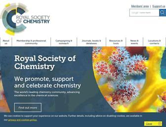 Main page screenshot of rsc.org