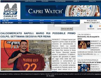 Main page screenshot of telecaprisport.it