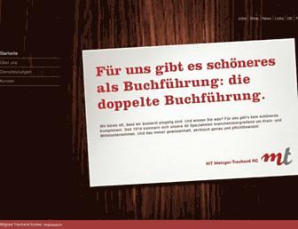 Main page screenshot of metzgertreuhand.ch