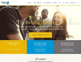 rosettastone.com screenshot