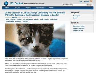 Main page screenshot of wlcentral.org