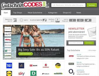 Thumbshot of Gutscheincodes.de