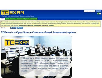 tcexam.org screenshot