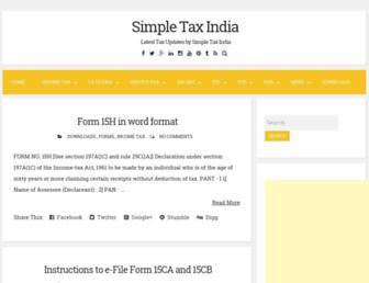 simpletaxindia.in screenshot