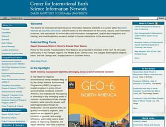 Main page screenshot of ciesin.org