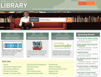 Main page screenshot of fcdlibrary.org