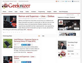 Thumbshot of Geeknizer.com