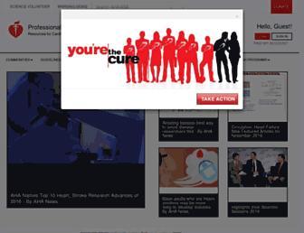 professional.heart.org screenshot