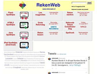 Main page screenshot of rekenweb.nl