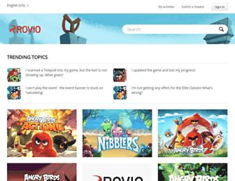 support.rovio.com screenshot