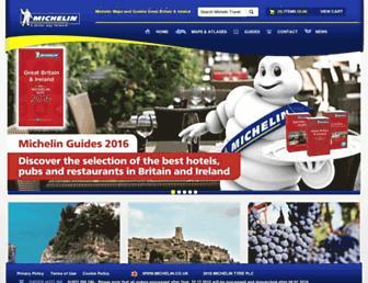 Main page screenshot of travel.michelin.co.uk