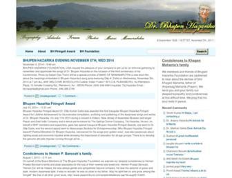bhupenhazarika.com screenshot