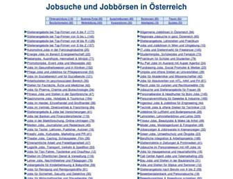 Main page screenshot of jobcenter.at