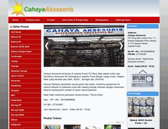 cahayaaksesoris.com screenshot