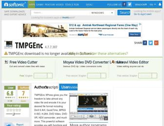 tmpgenc.en.softonic.com screenshot