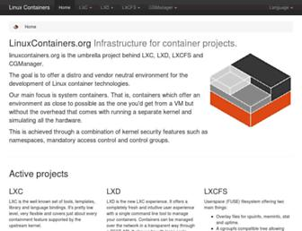 linuxcontainers.org screenshot