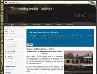 makingtracks-online.co.uk screenshot