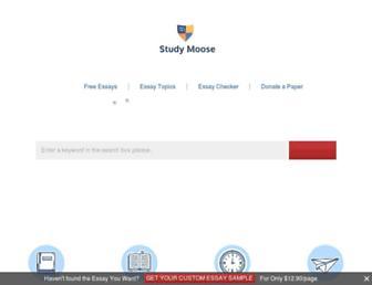 studymoose.com screenshot