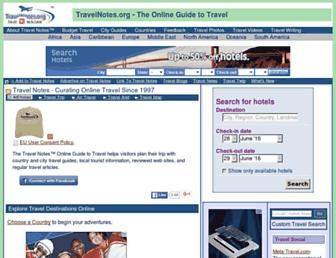 Main page screenshot of travelnotes.org