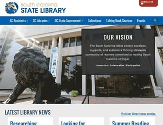 Main page screenshot of statelibrary.sc.gov