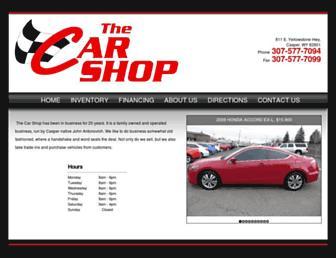 thecarshopwy.com screenshot