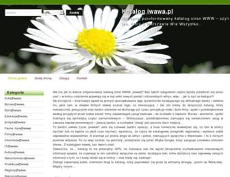 Main page screenshot of iwawa.pl