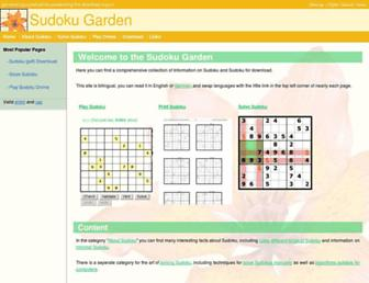 sudokugarden.de screenshot