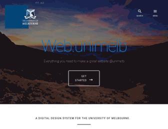 web.unimelb.edu.au screenshot