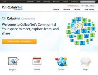Main page screenshot of open.collab.net