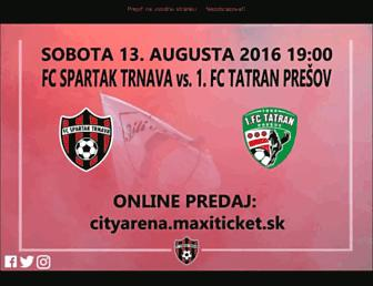 Main page screenshot of spartak.sk