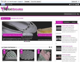 tejidos-manuales.blogspot.com screenshot