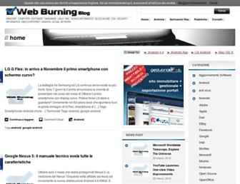 Main page screenshot of lnx.web-burning.it