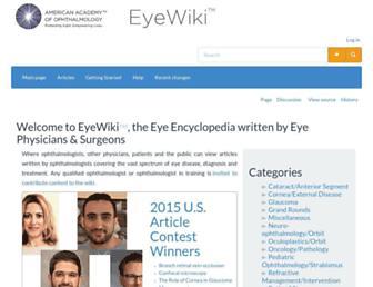 eyewiki.aao.org screenshot
