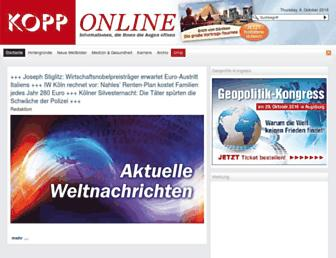 Main page screenshot of info.kopp-verlag.de
